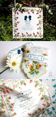 What a great idea!  I love vintage hankies :)