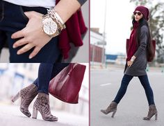 WORLDWIDE Giveaway!!!  - BURGUNDY RAY-BAN WAYFARER (by WOWS       .) http://lookbook.nu/look/4767309-Rebeca-Sanver-Embroidered-Suede-Ankle-Boots