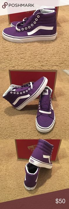 6c4386f0b9 Vans Sk8-Hi Canvas Imperial Palace Sneakers New in box. Purple white Vans