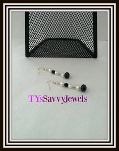 Swarovski Crystal and Pearl Dangle Drop Earrings by TYsSavvyJewels