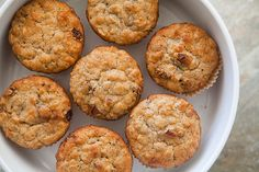 Oatmeal muffins w/Raisins, Dates and Walnuts - I, of course, would sub out the raisins