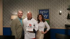 Chef Jim with the hosts of Channel 8's New Day Cleveland.