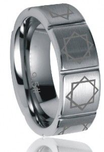 8-sided Seal of Melchizedek Tungsten LDS jewelry