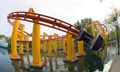 """Iron Dragon, Cedar Point, Ohio, my favorite easy """"coaster"""" and the only one I would ride"""