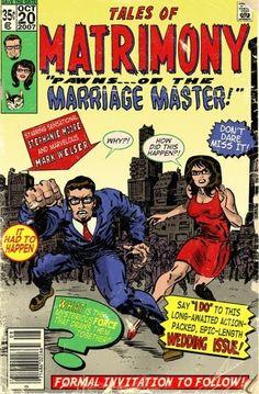 Custom Comic Book Cover Wedding Save The Dates
