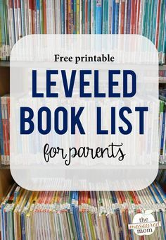 Looking for a leveled book list - with books you can actually find at your library? Print this free list today!