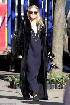Spring in your step? After her basketball date night, Ashley was seen leaving her New York apartment on Thursday