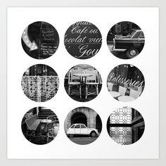 Polka dot Paris print at Society6