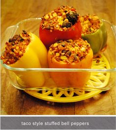 mystics + mint: taco style stuffed bell peppers