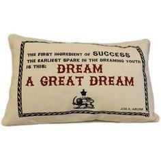 Canvas Cushion Cover - A Great Dream