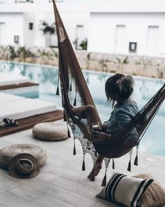 Casa Cook Arrived to Rhodes this morning and spending the day on our cozy terrace at in the hammock by the pool with a coffee! Perfect Sunday by mikutas Outdoor Spaces, Outdoor Living, Outdoor Decor, Outdoor Retreat, Style Bali, Beach Bodys, Photography Beach, Casa Cook, Life Hacks