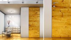 Bartels Custom Interior Doors: Flush with the Wall - Floor-to-ceiling, mature timber effect - CT24