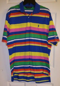 Ralph Lauren Polo Bandon Dunes Sz Large L Multi-Color Men's Short Sleeve Shirt  #RalphLauren #PoloRugby