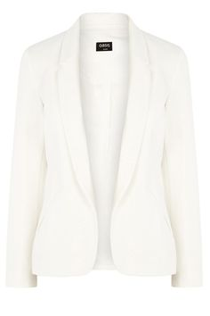This luxe textured blazer jacket features a modern shape with an open lapel and double welt pockets on the waist. The piece is finished with long sleeve styling and discreet darting for a streamlined fit.
