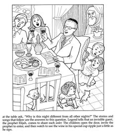 Jewish Holidays and Traditions Coloring Book Dover Publications