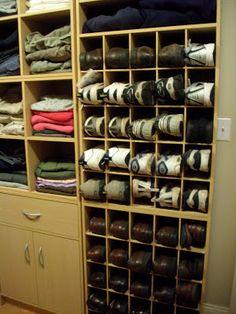 DIY closet organization - IKEA