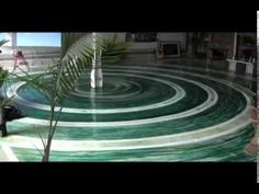 BEAUTIFUL FLOORS EPOXY GLASS - YouTube