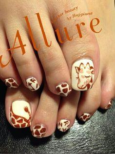 ongles girafes