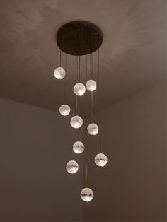 Modern Stairwell Led Chandelier Lighting Large Bubble Crystal Ball Pendant Lights Stairway