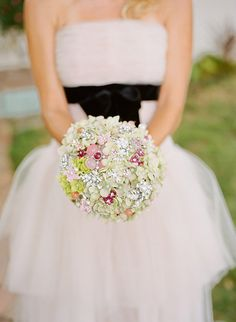 Green & Pink bridal brooch bouquet with Noaki & The Frosted Petticoat