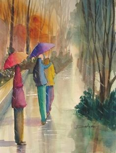 watercolor painting by Anik Dubaere