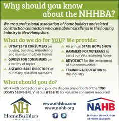 Professional Association, Construction Contractors, Print Ads, New Hampshire, Home Builders, Over The Years, Print Advertising