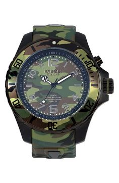 KYBOE! Camouflage Silicone Strap Watch, 48mm