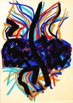 """Edo Murtic """" Apstraktno"""" serigrafija 70x50cm"""