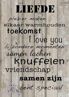 Stoere #kaart #liefde, gaaf bij een #bruiloft of #samenwonen. Of natuurlijk voor #valentijnsdag.