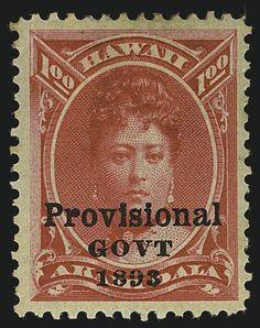 Hawaii, 1893, overprinting