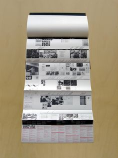 https://flic.kr/p/3PTHj3 | HfG Synopse | Conceptualised by Nick Roericht Design: Michael Burke (1984)  Scaled down and bound version of the Hochschule für Gestaltung Ulm Synopsis exhibition.  25 folded, 2 colour Din A1 sheets featuring a  chronological appraisal of the pioneering work produced at the HfG.