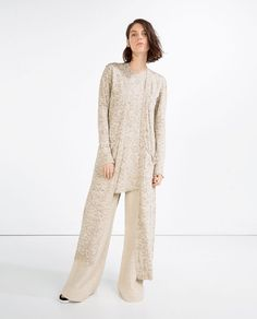 Image 1 of LONG CARDIGAN WITH POCKETS from Zara
