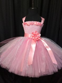 Pink and silver flower girl dress, tulle flower girl dress, tutu dress for girls, tutu flower girl dress, wedding, pink flower girl dress Flower Girl Dress Shoes, Baby Dress, Tutus For Girls, Girls Dresses, Tutu Frocks, Baby Tutu Tutorial, Sparkle Skirt, Special Dresses, Dress Picture