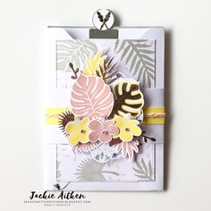 Tropical Chic & Floral Frames Pocket Cards. Tutorials available from AddINKtive Designs. #jaxxcraftycreations #stampinup…