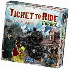 Ticket to Ride Europe  Verzamel treinkaarten om stations te bouwen. Baan een weg door verschillende tunnels of probeer aan boord van de veerboot te geraken. Ticket to Ride Europe neemt je mee op een nieuw treinavontuur door de grootste steden van Europa!  EUR 44.99  Meer informatie