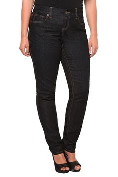 This pair of skinny jeans is great for women who have curves. The shade and cut is very slimming. Great everyday jeans.