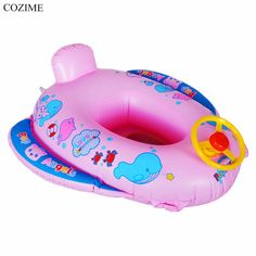 Hot COZIME Baby Inflatable Swimming Ring Children Kids Inflatable Summer Swimming Ring With Steering Wheel & Horn Special Design #Affiliate