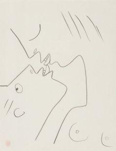 Jean Cocteau (1889-1963) - Le baiser, N/D