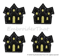 Hey, I found this really awesome Etsy listing at https://www.etsy.com/listing/162702402/uncut-haunted-house-applique