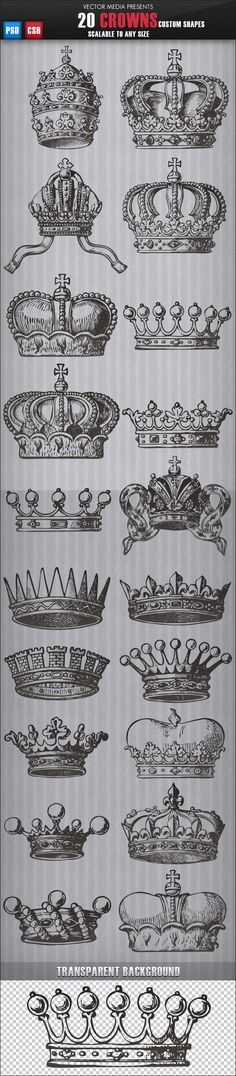 20 Crowns - formas personalizadas - Objetos Shapes