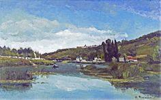 Camille Pissarro - The Marne at Chennevières [1864] | par petrus.agricola