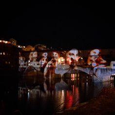 #Firenze #F-LightFestival Ponte Vecchio vestito a festa