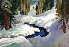 Millard Sheets (1907-1989) - A Quiet Place, 1983