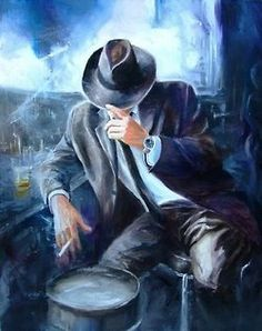 Painter: Karen Wallis Gary Moore ~ Still got the Blues Lyrics: Used to be so easy to give my heart away But I found out the hard way there's a price you have. Fabian Perez, Cigar Art, Wallis, Oeuvre D'art, Character Art, Fantasy Art, Concept Art, Art Drawings, Art Gallery
