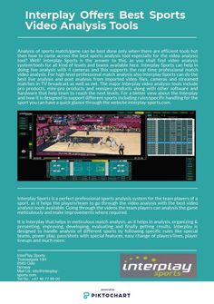 Analysis of sports match/game can be best done only when there are efficient tools but then how to come across the best sports analysis tool especially for the video analysis tool? Interplay Sports is the answer to this! Matching Games, Wellness, Good Things, Tools, Sports, Hs Sports, Instruments, Excercise, Sport
