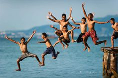Beautiful Bangladesh ©: Children having a dip in water.