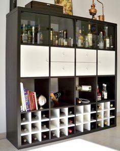 Verwendungen für unseren Regaleinsatz für Weinflaschen für das Expedit Regal von Ikea vor.