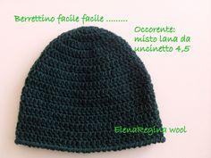 Il berretto a uncinetto facile facile di Elena Regina - Istruzioni in Italiano.
