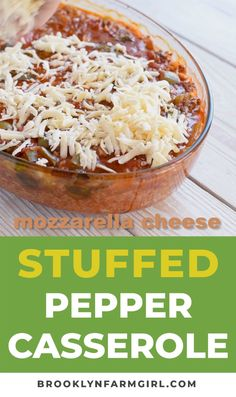 BAKED Easy Stuffed Pepper Casserole made with green peppers! This dinner dish uses my Mother's famous stuffed pepper recipe but I turned it into a casserole to Green Pepper Casserole, Stuffed Pepper Casserole, Stuffed Pepper Soup, Easy Stuffed Peppers, Grilled Stuffed Peppers, Stuffed Banana Peppers, Green Pepper Recipes, Recipes With Green Peppers, Ground Beef Casserole