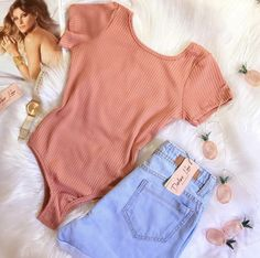 Outfits With Hats, Short Outfits, Spring Outfits, Looks Camisa Jeans, Pretty Outfits, Cute Outfits, Jolie Lingerie, Fashion Outfits, Womens Fashion